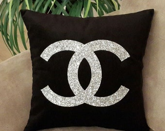 Luxury Pillows, Black and Silver Pillow Cover, Decorative Pillow, Silver pillow, pillows cover, Pallet pillow, Gift,Special Pillows,CC