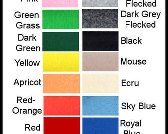 2mm Pure wool felt, ECO Friendly, WALDORF STEINER 1 square choose your colour