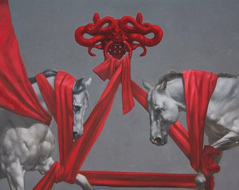 "The Pageantry - 8""x10"" fine art print - equestrian art"