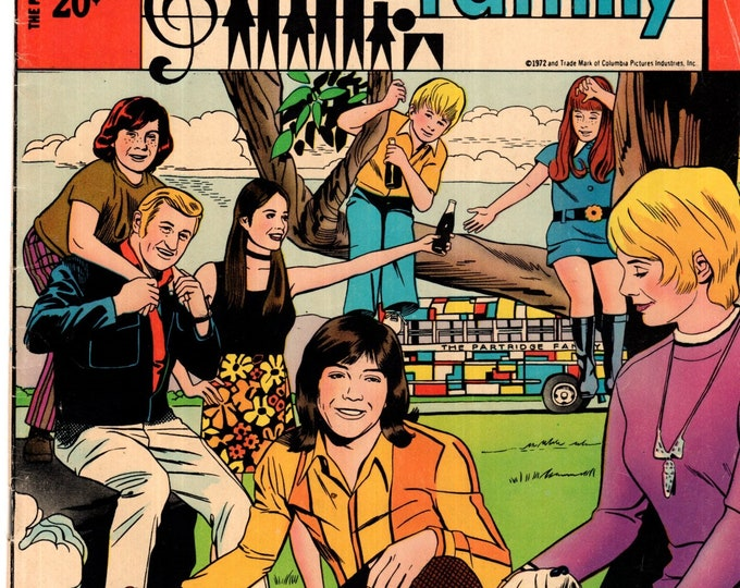 The Partridge Family #10 Charlton Comic Book June 1972 FN 6.0 David Cassidy