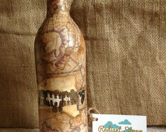 Tuscan Wine Bottle & Map