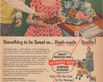 Vintage Lux Dishwashing Liquid Flakes Magazine Ad 1954 1st Anniversary Gift Idea