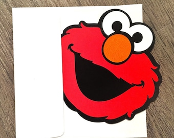 Elmo Invitations - Elmo Invite - Elmo Party - Elmo Birthday - Sesame Street Birthday