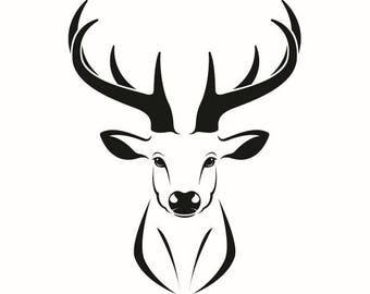 fawn logo etsy rh etsy com browning deer head logo deer head logo clothing
