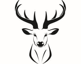fawn logo etsy rh etsy com deer head emblem deer head logo designs