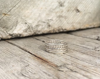 Sterling Silver Stacking Ring—Thin Sterling Silver Stacking Ring—Made-to-Order