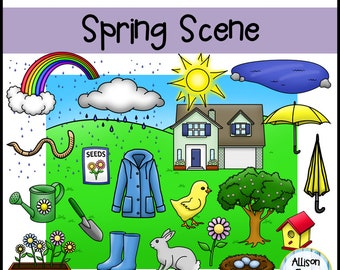 Build Your Own Spring Scene Clip Art