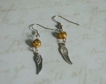 Golden Snitch earrings