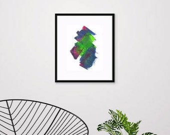 Small Abstract Original Acrylic Painting. Perfect Art Gift. Abstract Wall Art. Mounted Painting. Ready to Frame.