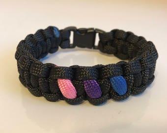 Bisexual Pride Paracord Bracelet
