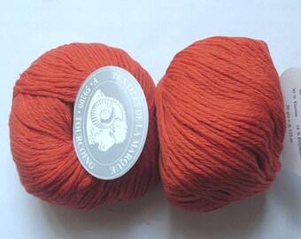 5 balls Chic orange burnt 211 brand textiles