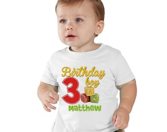 ABC Blocks Personalized Birthday T-Shirt