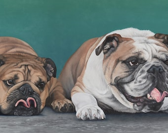 Custom Pet Portrait - Multiple Subjects, 12x24