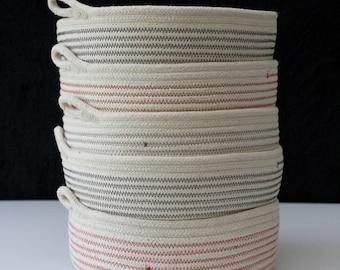 Flat bowl - Earth Colours // rope bowl / rope basket / table bowl / fruit bowl /