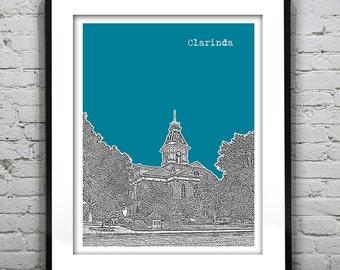 Clarinda Iowa Poster Art Print IA