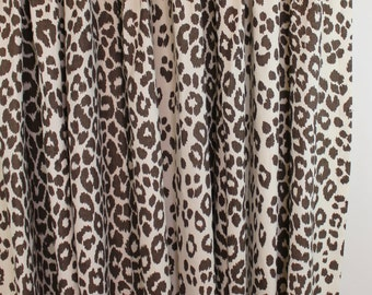 Schumacher Iconic Leopard Custom Drapes (Shown in Brown - comes in 11 colors)