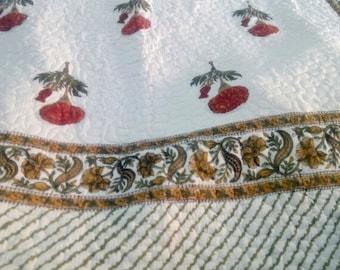 Quilt Cotton Blanket- Reversible-Full Size