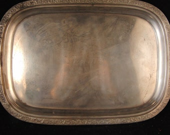 Vintage silver plated tray by Reed & Barton