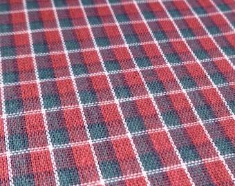 Christmas Plaid - Vintage Fabric - Cotton - Primitive