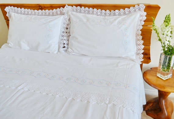 ensemble de draps de lit lin fran ais 3 pcs queen king size. Black Bedroom Furniture Sets. Home Design Ideas