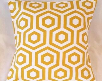 """14"""" 16"""" 18"""" Cushion Cover Yellow Mustard Saffron Cream Cotton Print 100% Cotton"""