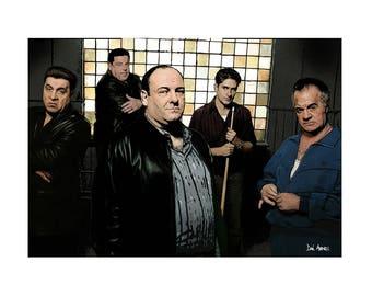 The Sopranos -Art Print/Poster