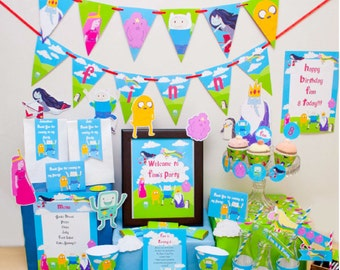 Adventure Time Party Printable Birthday Decorations
