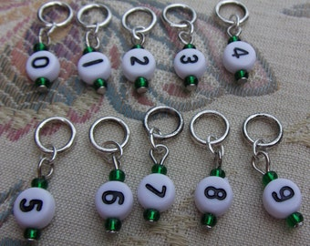 Number knitting/crochet markers