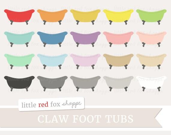 claw foot tub clipart vintage tub clip art retro bath bathroom rh etsystudio com Cartoon Rubber Duck Claw Bathtub Vintage Bathtub Silhouette