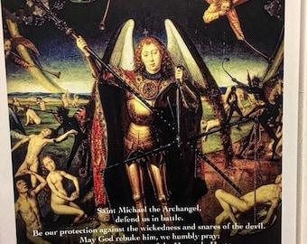 St. Michael the Archangel Prayer Poster Religious Print Version 2