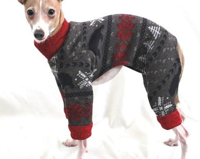 "Dog Pajamas. ""The Bear Sweater Jumper"" - Italian Greyhound and small dog sizes"