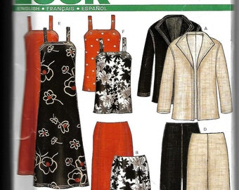 New Look easy 6213 sewing pattern new uncut misses size A 10-22 FR 38-50 EUR 36-48 ladies wardrobe