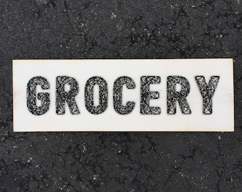 READY TO SHIP Grocery String Art Board