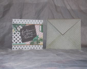 with its envelope 3D card