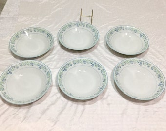 Noritake Tenderly contemporary LOT 6 Soup Bowls