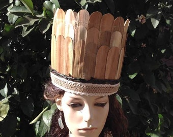 Authentic Lauhala Headpiece. Perfect For Girls And Boys  Of All Ages.