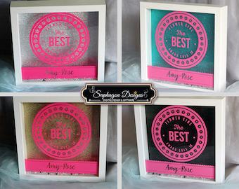 Flower Girl Gift, Wedding Gift, Personalised Flower Girl Ribba Shadow Box Frame