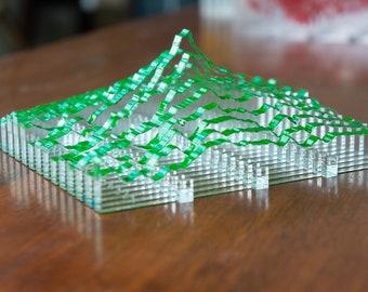 Geo Slice — Mt. Hood (Green)