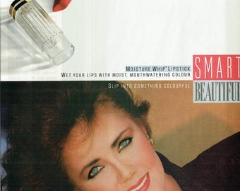 1989 Advertisement Lynda Carter Maybelline Moisture Whip Lipstick Something Colourful Smart Beautiful Celebrity Wall Art Decor