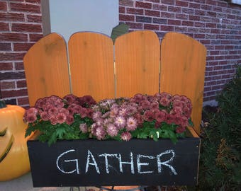 Plump Pumpkin Porch Planter with Chalkboard Front