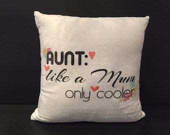 Cushion gifts for aunts, uncles and cousins