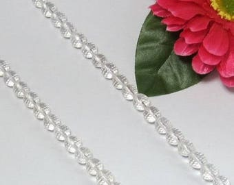 White rock crystal Quartz 8mm round faceted Loose Beads