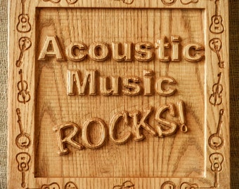 Acoustic Music Rocks wall plaque (with Free Shipping)