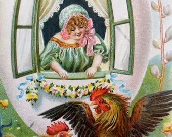 Vintage German Easter Post Card