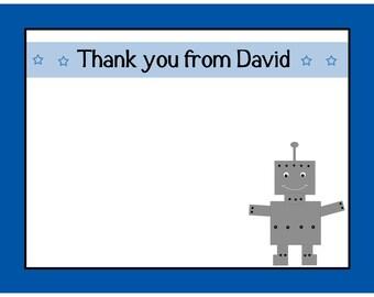 20 Thank You Cards   ROBOT