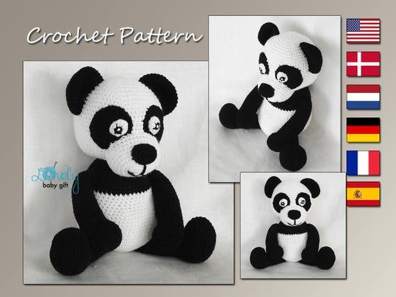 Amigurumi Panda Bear Crochet Pattern : Crochet pattern amigurumi panda stuffed animal pattern