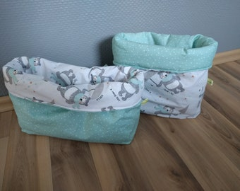Baby bear grey fabric baskets
