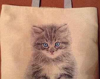 Tote sewing pattern kitten