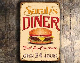 Custom DINER SIGN, Custom Diner Sign, Vintage style Diner Sign,Personalized Diner Sign, Restaurant Diner Sign, Restaurant Decor, Diner Decor
