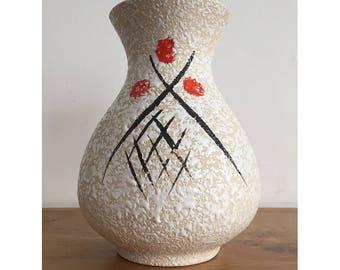 "8"" 1960's Bay Keramik 531-20 Splatter Glaze Vase"